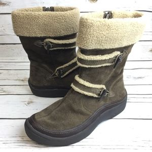 Earth Spirit Boots Size 10 Brown Suede Womens